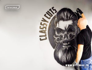 роспись стен в черно белом формате в стиле фотореализм