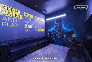роспись стен для геймеров, нарисовать компьютерный персонаж на стене